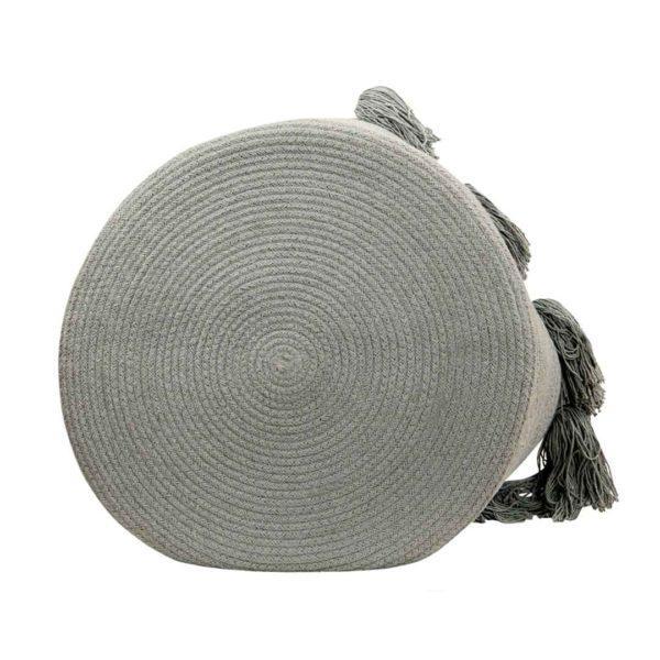Tassel Basket - Light Grey - Bottom