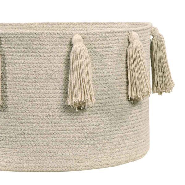 Tassel Basket - Natural