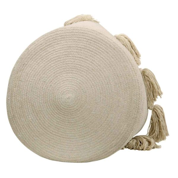 Tassel Basket - Natural - Bottom
