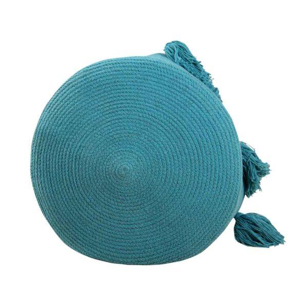 Tassel Basket - Petrol - Bottom