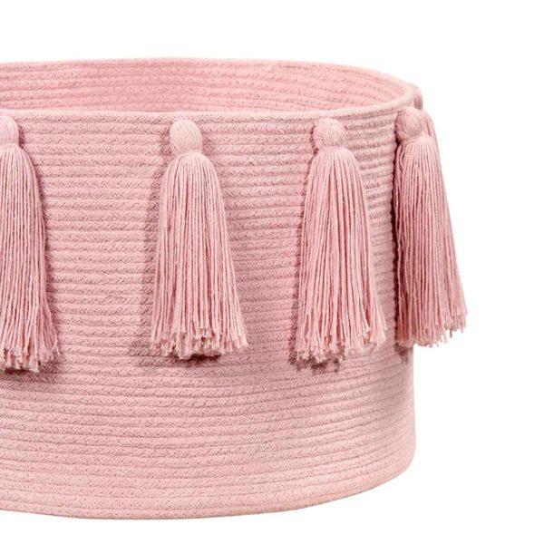 Tassel Basket - Soft Pink