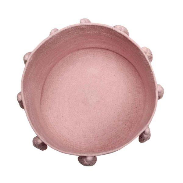 Tassel Basket - Soft Pink - Top