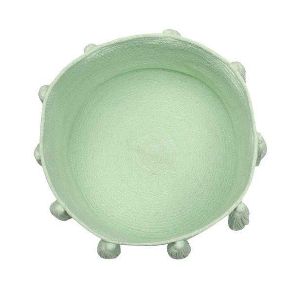 Tassel Basket - Soft Mint - Top