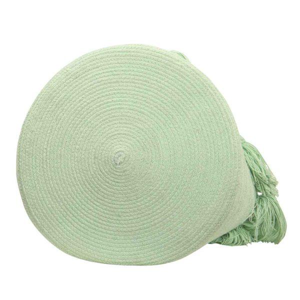 Tassel Basket - Soft Mint - Bottom
