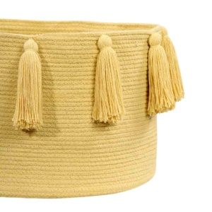 Tassel Basket - Yellow