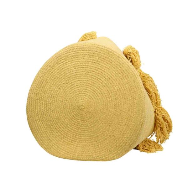 Tassel Basket - Yellow - Bottom