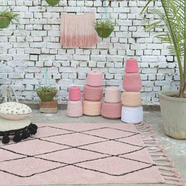 Berber Rug - Vintage Nude Pink