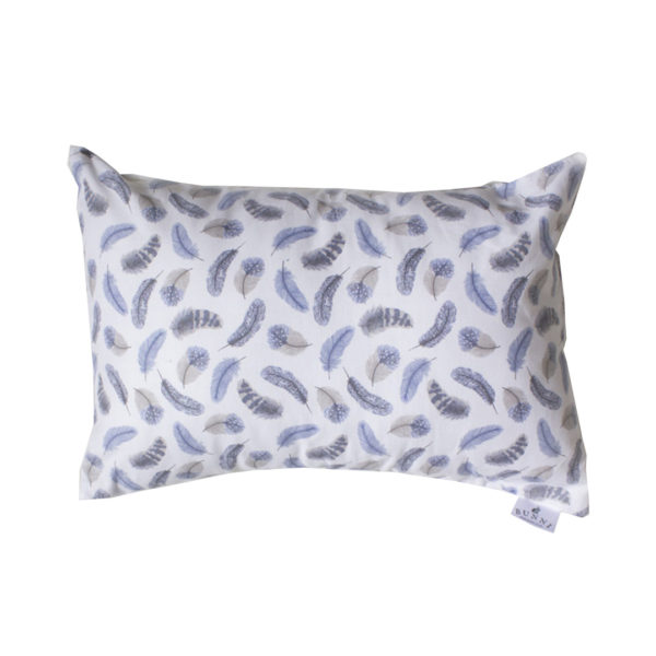 Blue Feather Toddler Pillow