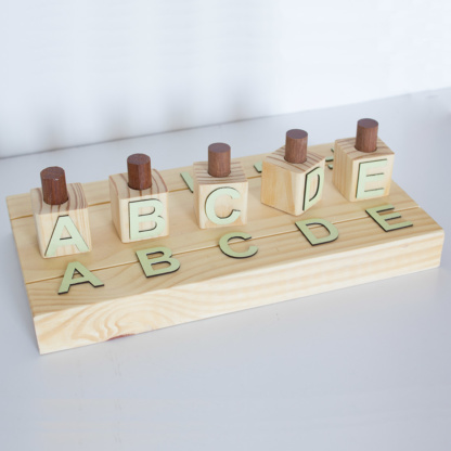 ABC Sorting Toy - Pastel Mint