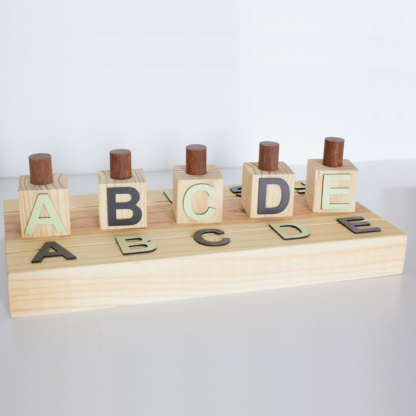 ABC Sorting Toy - Black & Mint