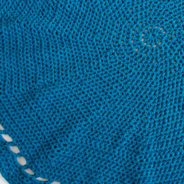 Crochet Rug - Petrol