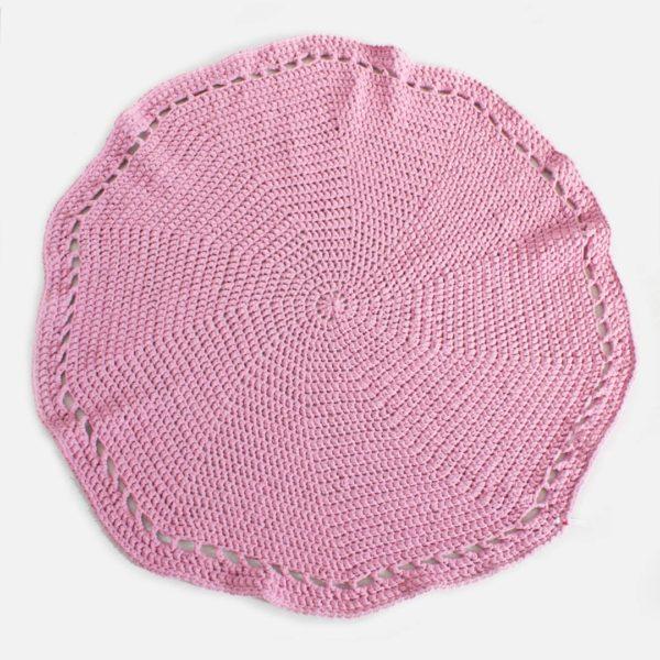 Crochet Rug - Dusty Pink