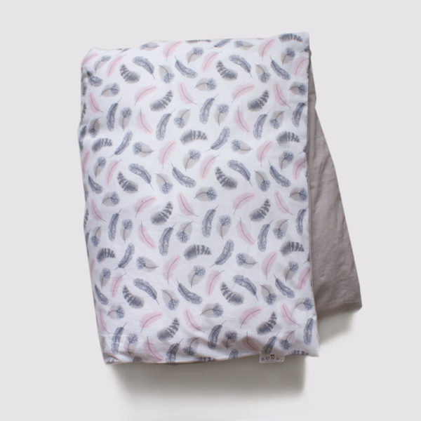 Pink Feathers Cot Duvet