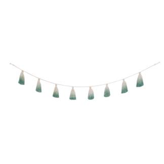 Tie-Dye Pom-Pom Garland - Green