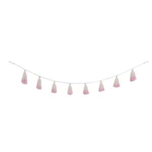 Tie-Dye Pom-Pom Garland - Soft Pink
