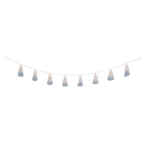 Tie-Dye Pom-Pom Garland - Soft Blue