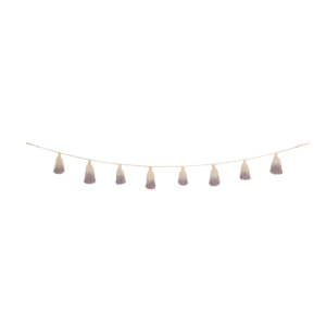 Tie-Dye Pom-Pom Garland - Wood Rose