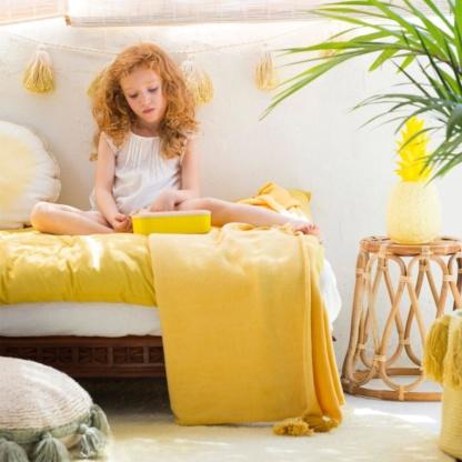 Tie-Dye Pom-Pom Garland - Yellow