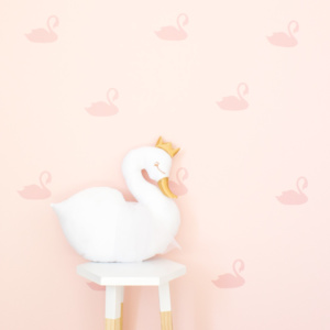 Bunni Swan Wall Decals - Light Pink