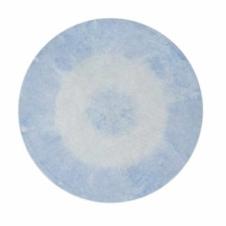 Tie-Dye Rug - Soft Blue