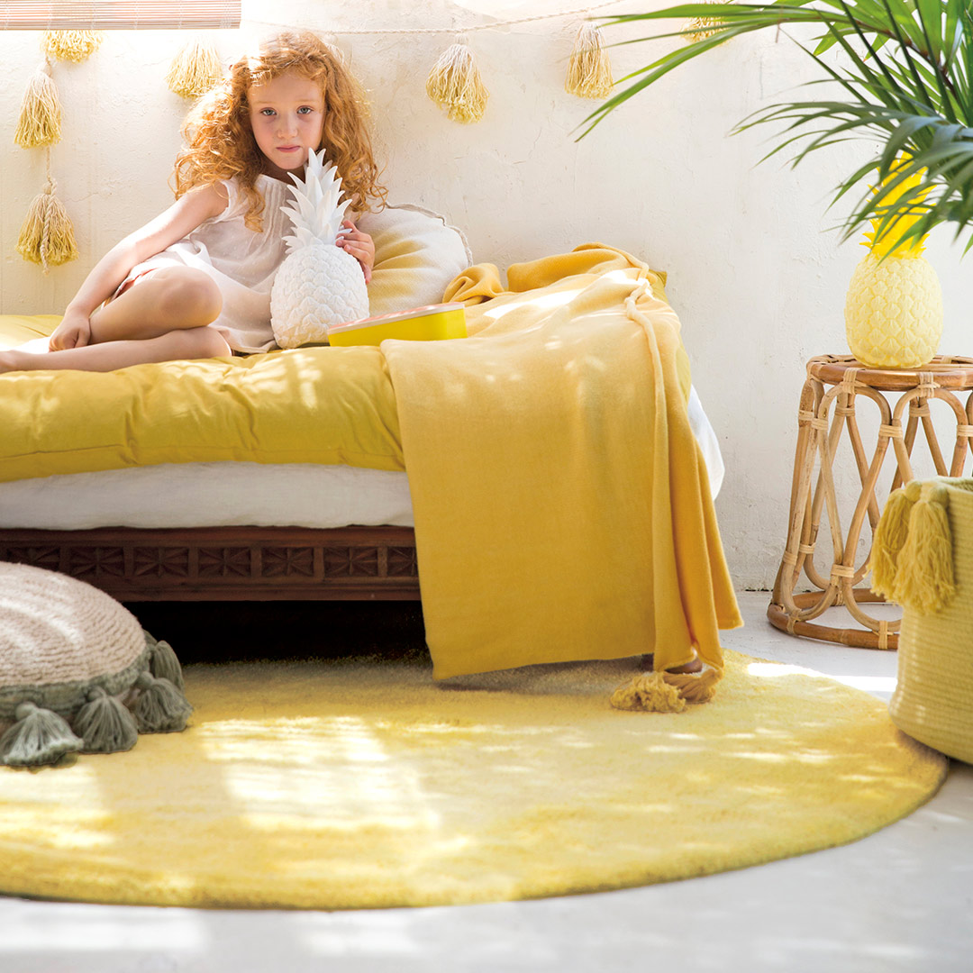 Lorena Canals New Collection Tie Die Yellow Rug