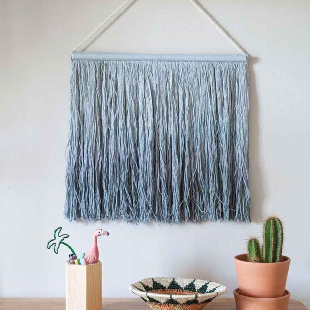 Tie-Dye Wall Hanging - Vintage Blue