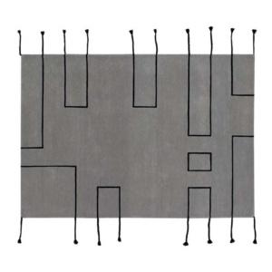Nordic Lines Wool Rug - Grey