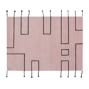 New Collection Lorena Canals Nordic Lines Wool Rug - Vintage Nude