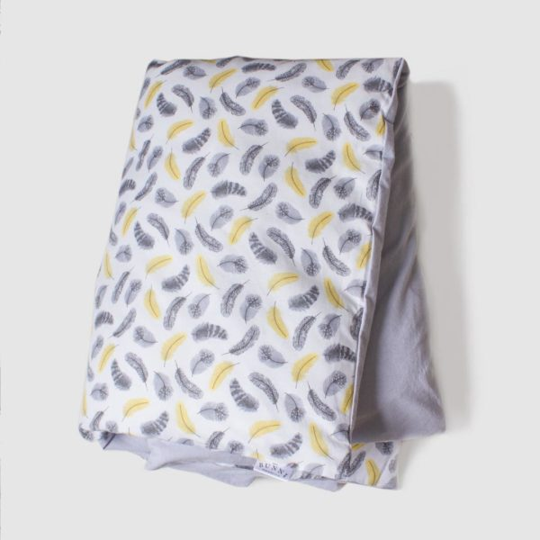 Yellow Feathers Cot Duvet