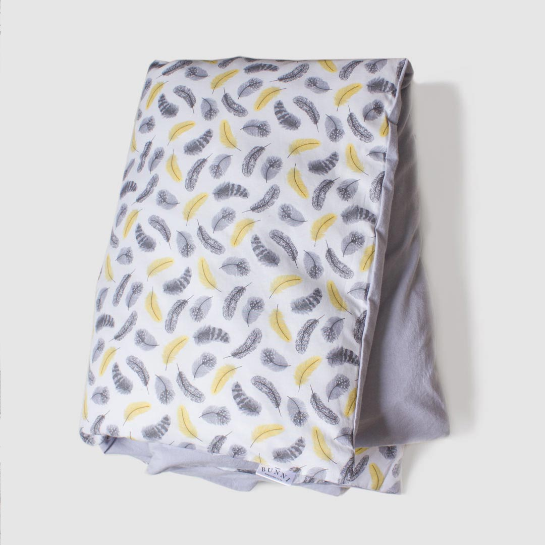 Yellow Feathers Cot Set By Bunni