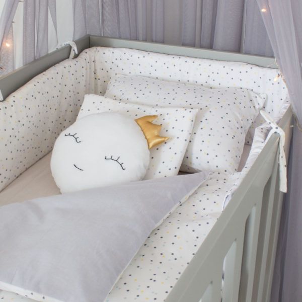 Yellow Wild Dot Cot Set