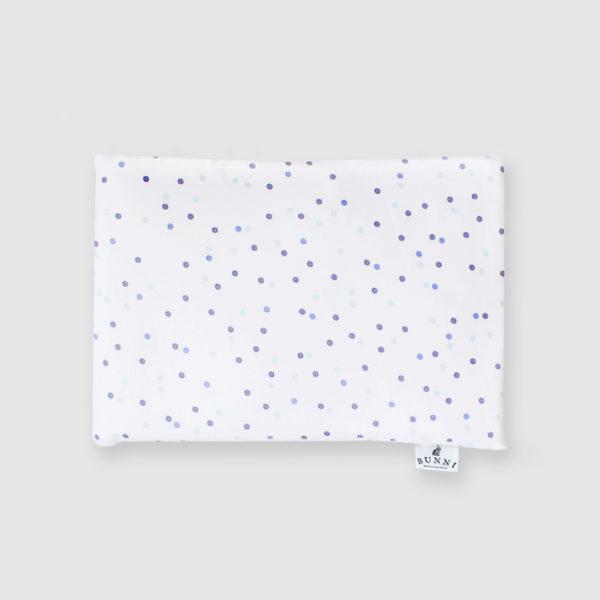 Blue Wild Dot Baby Pillowcase
