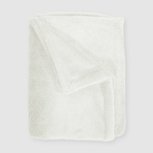 Fleece Baby Blanket - Cream