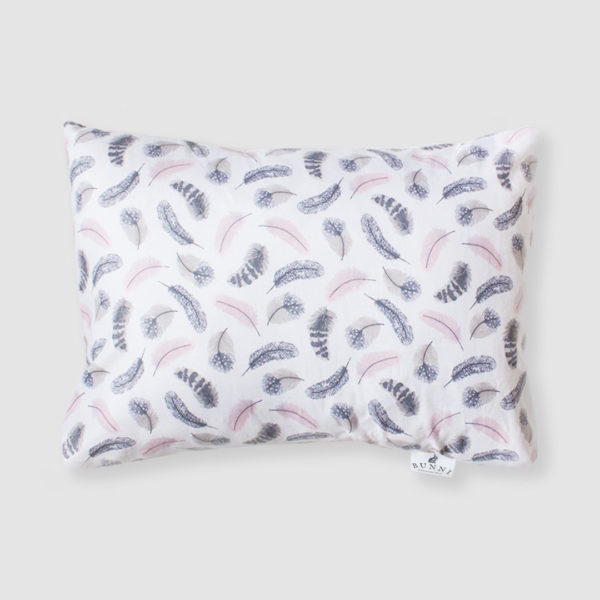 Pink feathers toddler pillow