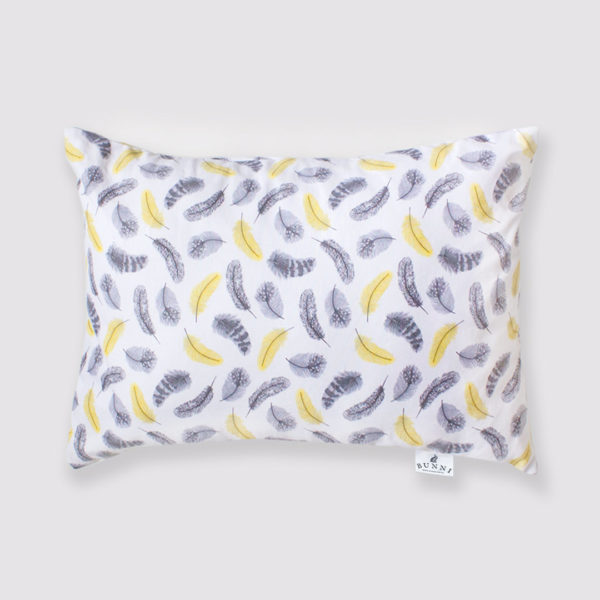 Yellow Feathers Toddler Pillow