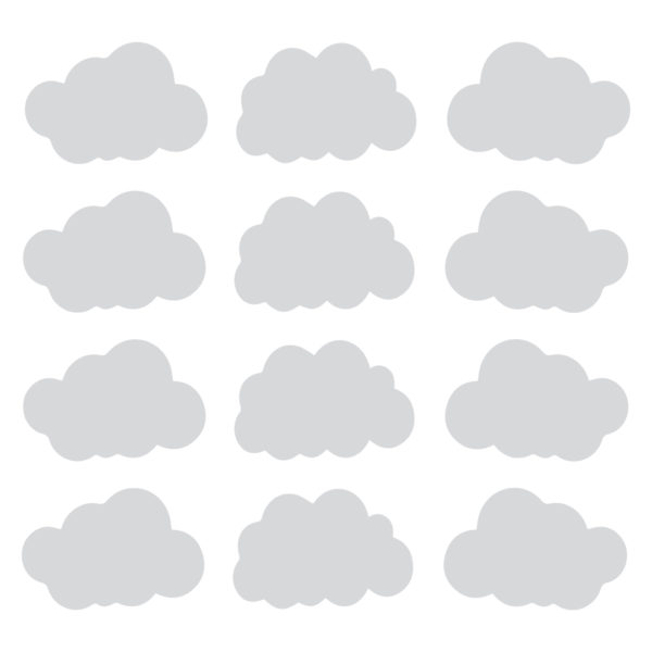 Bunni Cloud Decals - Grey