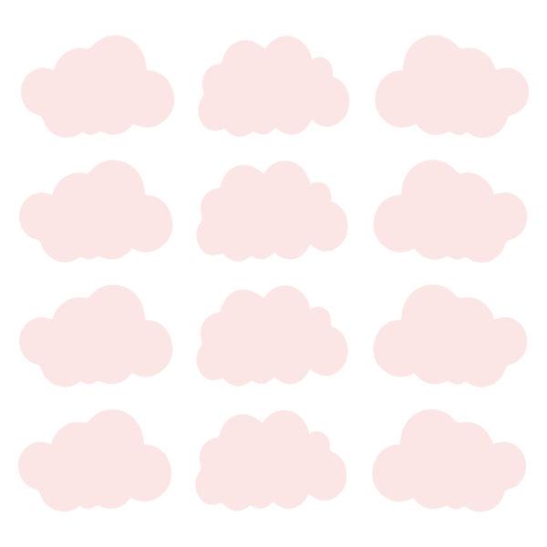 Bunni Cloud Decals - Pink
