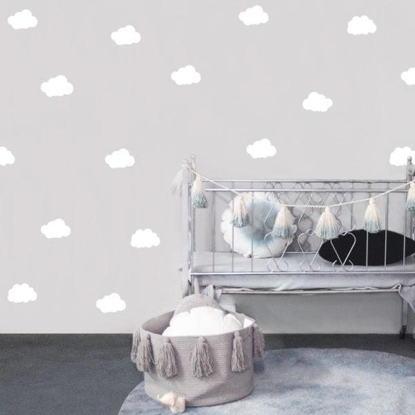 Bunni Cloud Decals - White