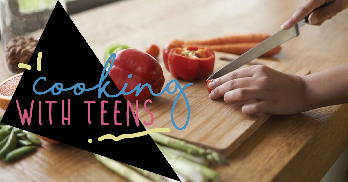 Cooking with teens