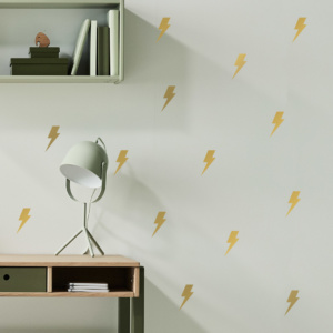 Simply Child Lightning Bolt Decals - Gold