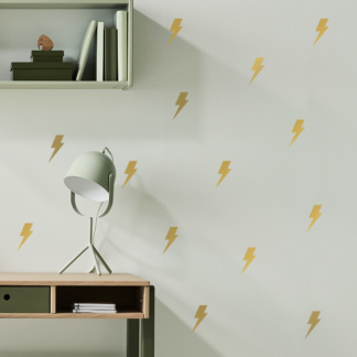 Lightning Bolt Decals - Gold