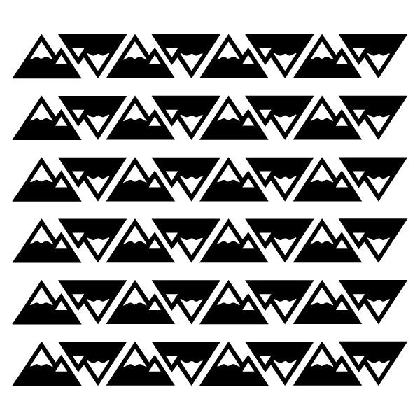 Bunni Little Mountains Decals- Black