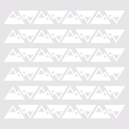 Bunni Little Mountains Decals - White