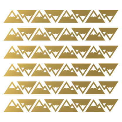 Bunni Little Mountains Decals - Gold