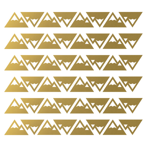 Bunni Little Mountains Decals - Gold