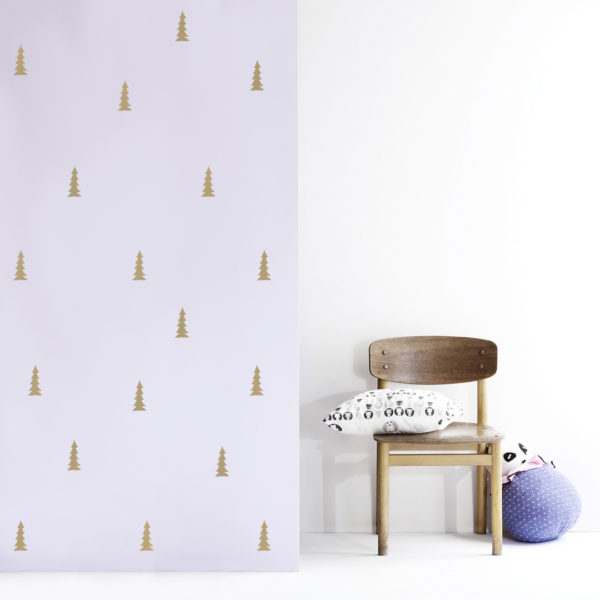 Little trees decals gold