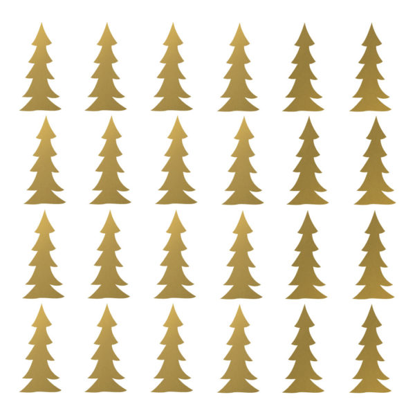Bunni Little Trees Decals - Gold