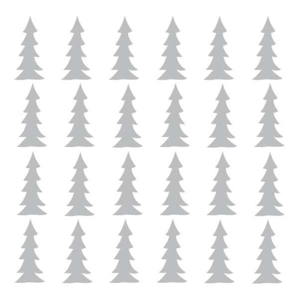 Bunni Little Trees Decals - Grey