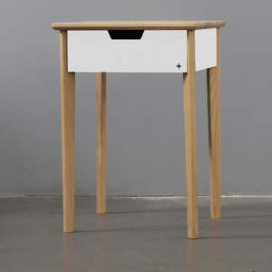 Huguenot Bedside Table - White