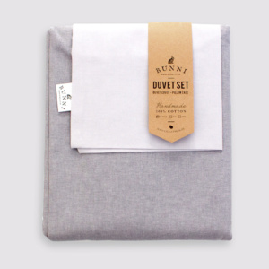 Bunni Rebel Grey Duvet Set